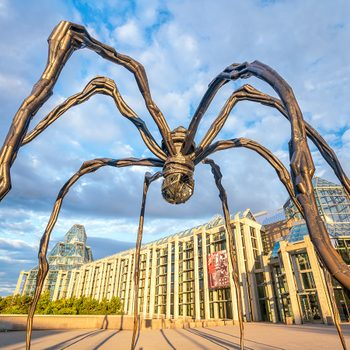 Famous sculptures - Maman spider sculpture at The National Gallery in Ottawa