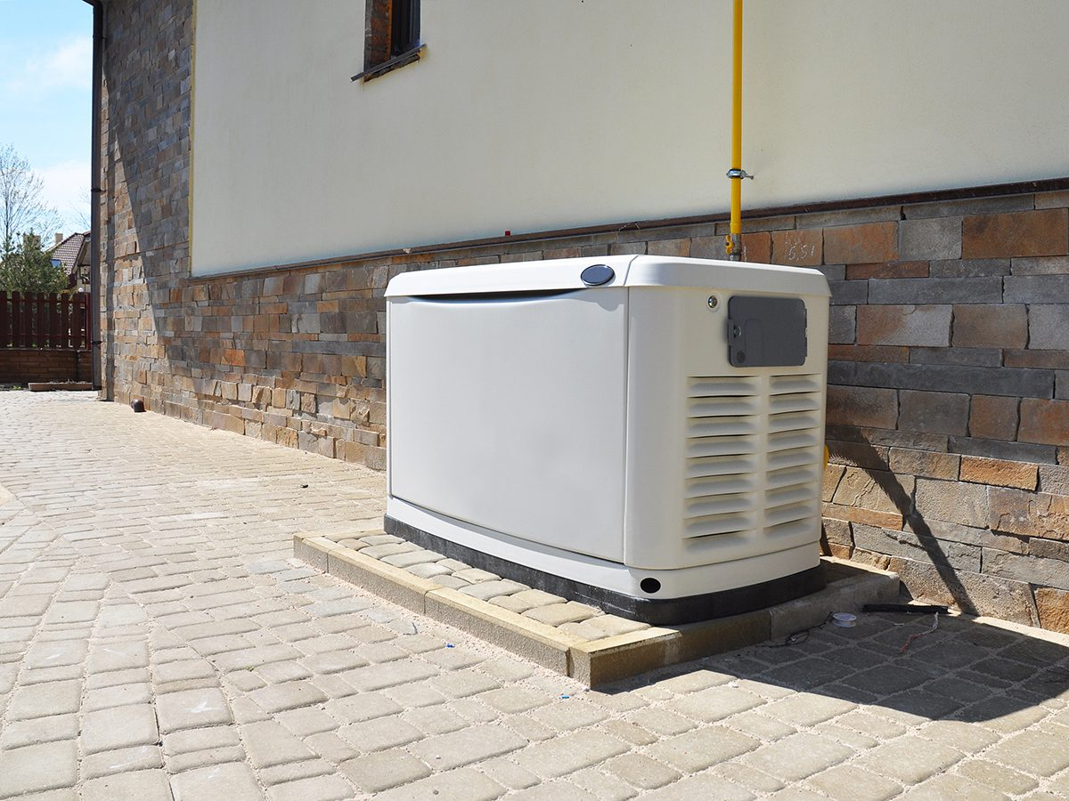 Big Backup Natural Gas Generator for House Building Outdoor