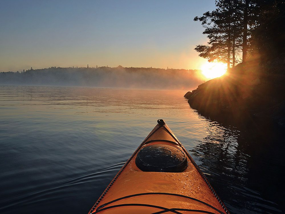 A morning kayak on Lake of the Woods