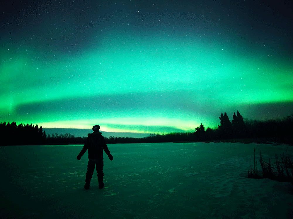 Living in Canada - Northern lights