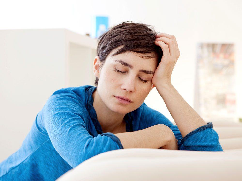 Attractive woman experiencing fatigue