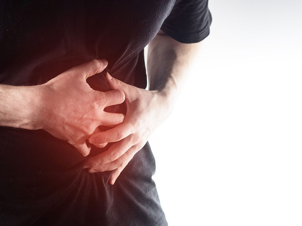 Man suffering from cholecystitis