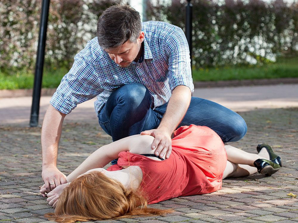 Recovery position in First Aid