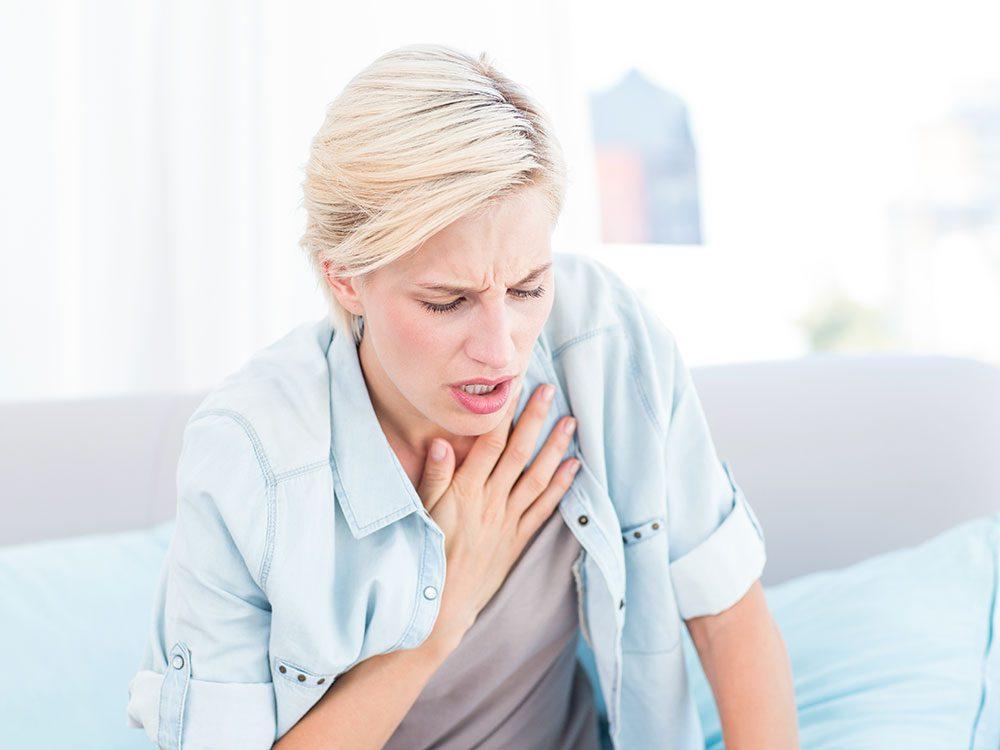 Shortness of breath is a symptom of thymus cancer
