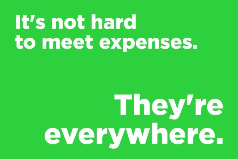 Corny jokes - it's not hard to meet expenses