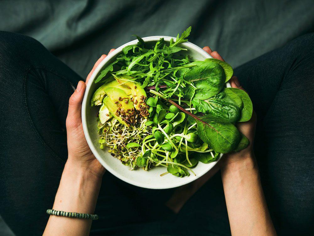 Vegan breakfast meal in bowl