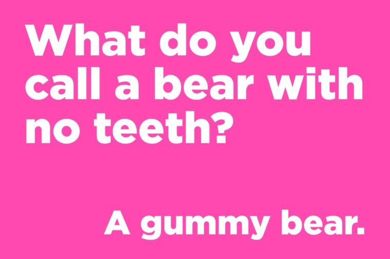 Funny jokes to tell - what do you call a bear with no teeth?