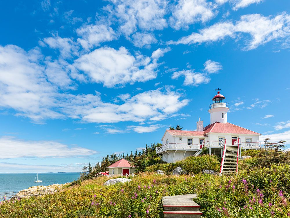 Stay at the Pot Eau Vie Lighthouse in Quebec