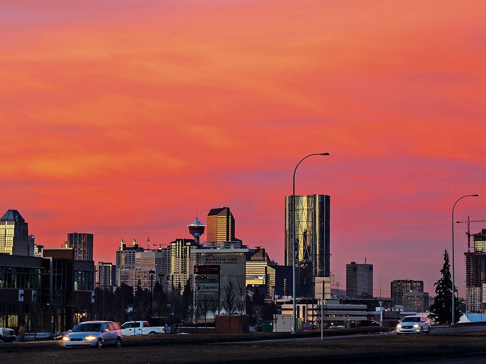Gorgeous sunset in Calgary