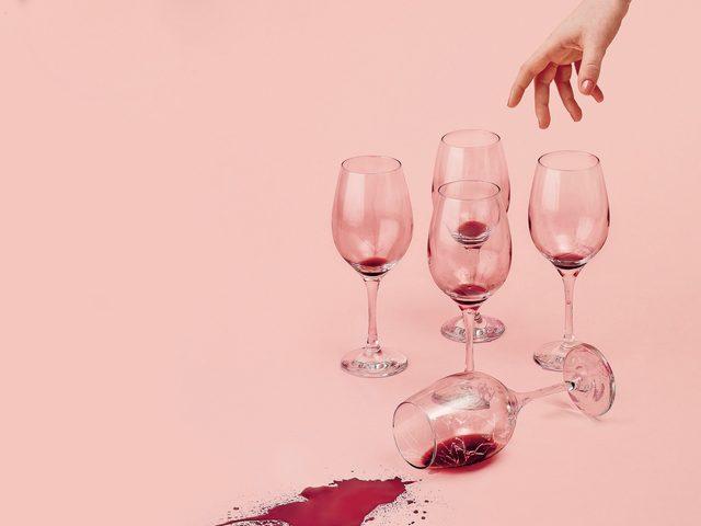 Binge drinking wine