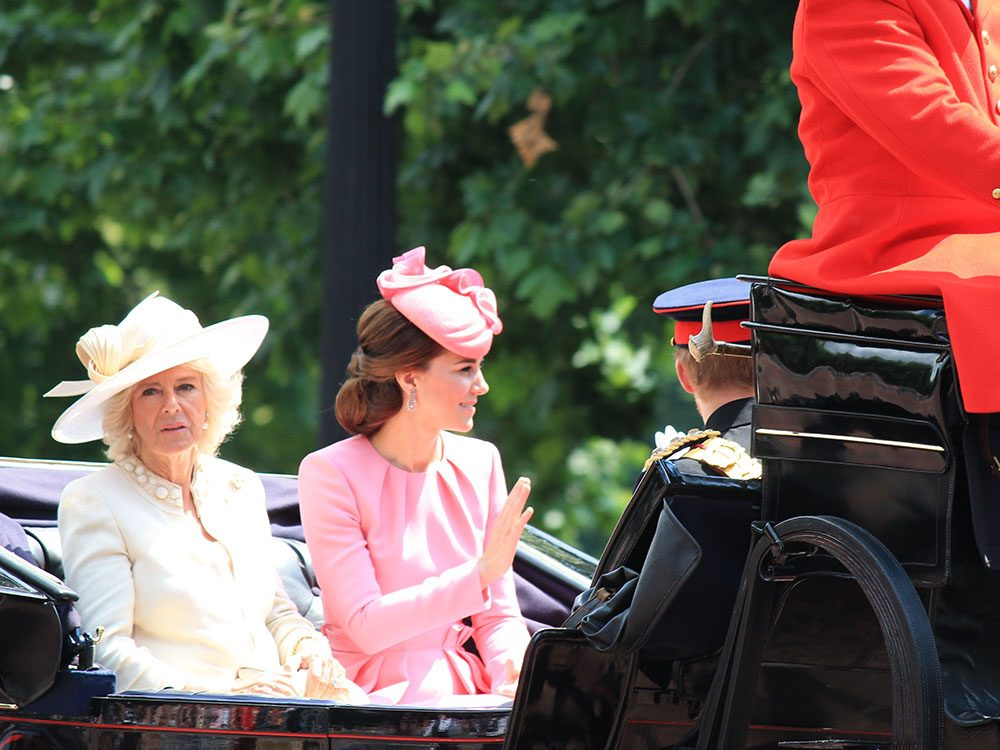 Camilla and Kate in the royal carriage