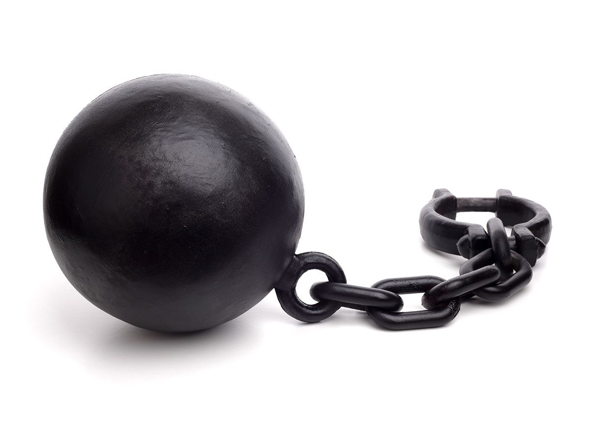 Hilarious work jokes - Ball and chain