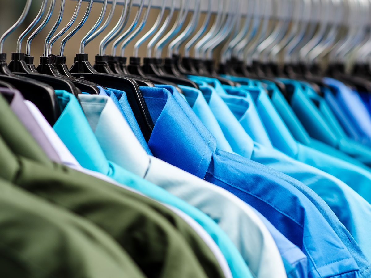 Hilarious work jokes - clothes hanging in closet