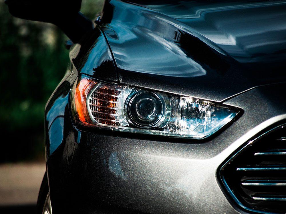 Homemade car wash tricks for headlights
