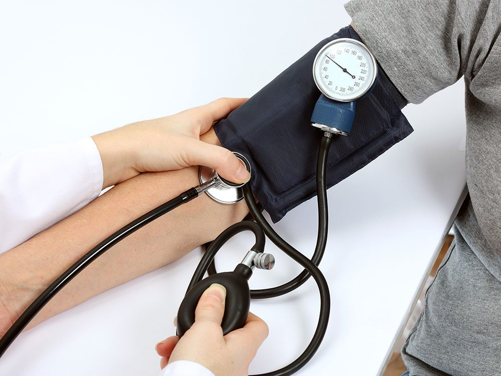 The position of your arm can affect your blood pressure reading