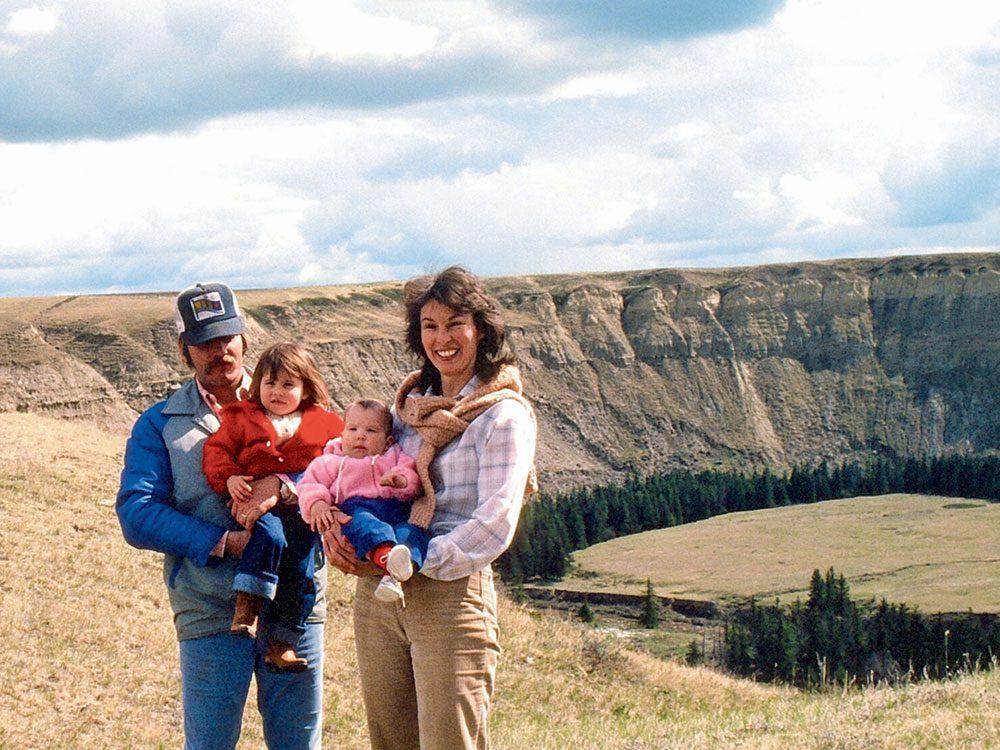 My parents at Red Deer River