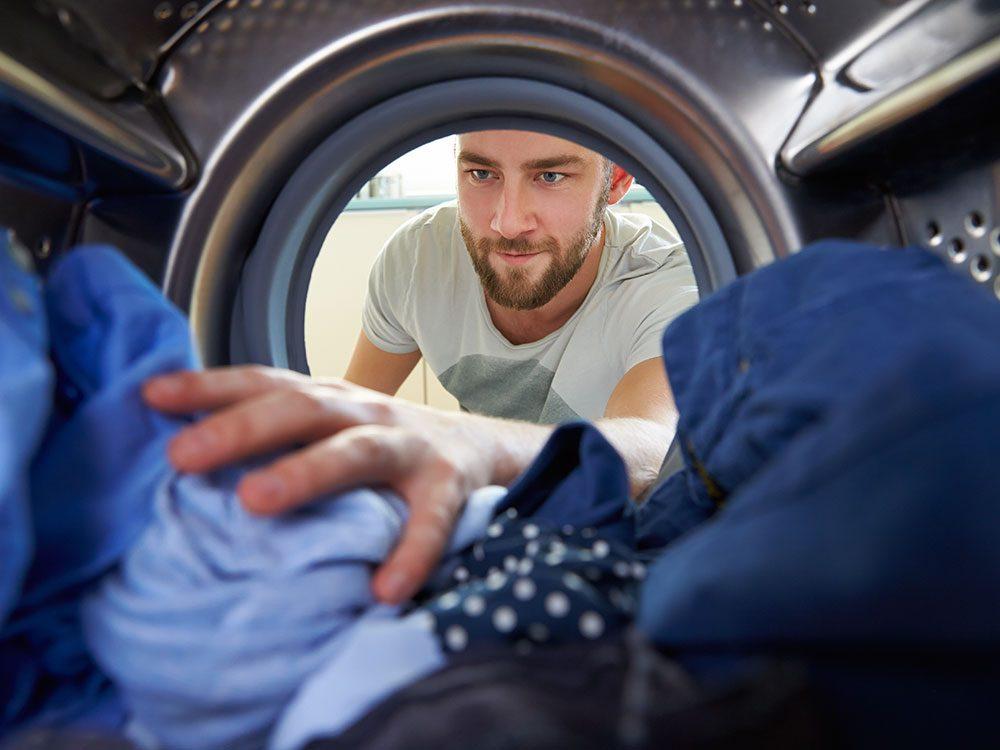 Wedding jokes - man doing laundry