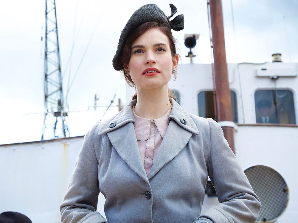 """Lily James in """"The Guernsey Literary and Potato Peel Pie Society"""""""