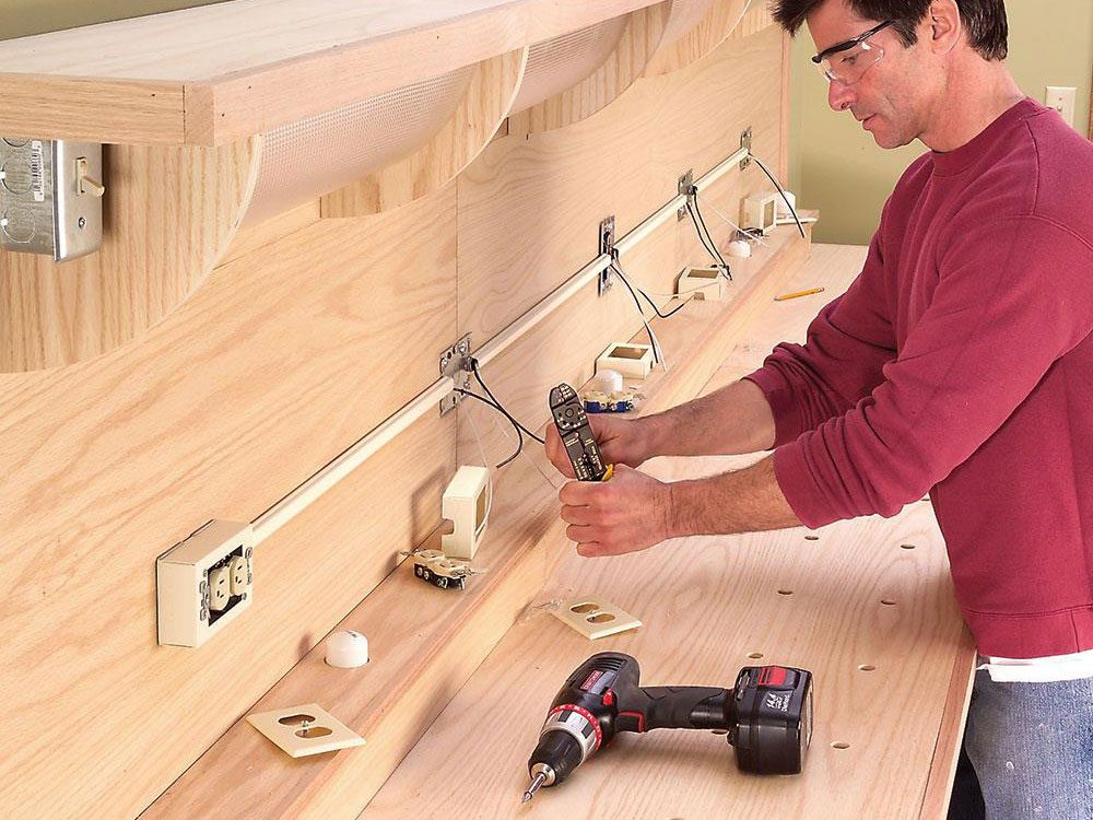 Add electrical outlets to your garage