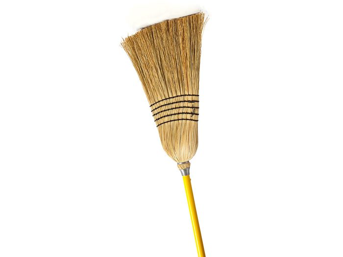 Cover a broom head with a pillowcase