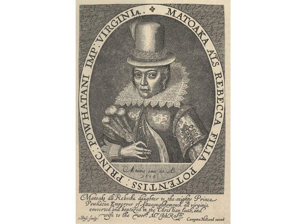 Pocahontas historical illustration