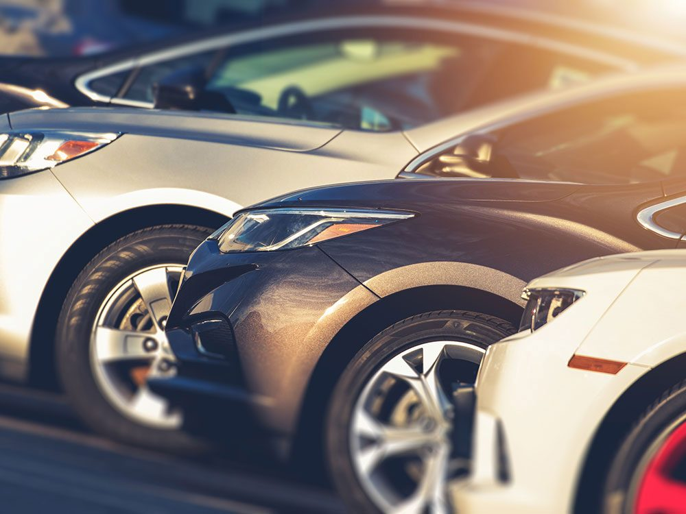 Tips for buying a used car - used car lot