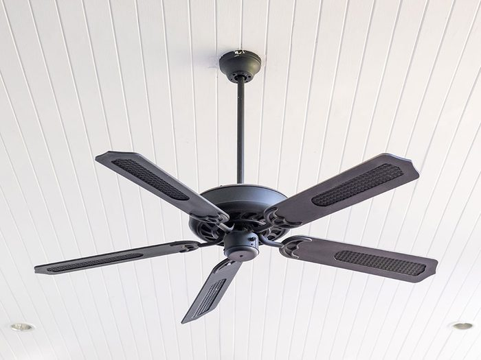 Use a pillowcase to dust ceiling fan blades