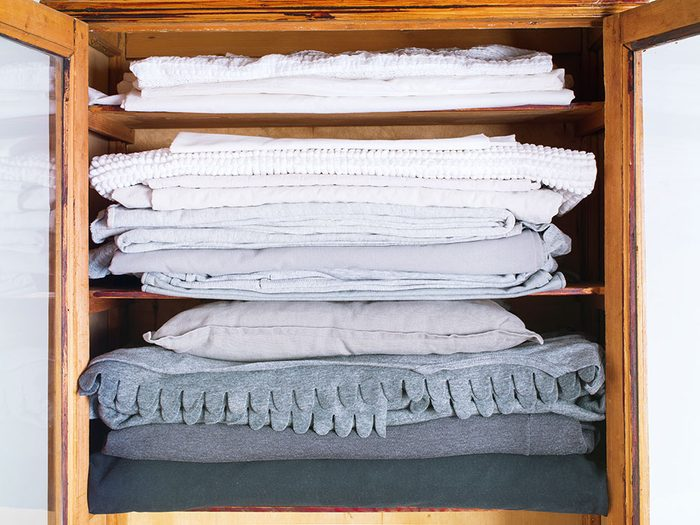 Use a pillowcase to keep matching bedding together