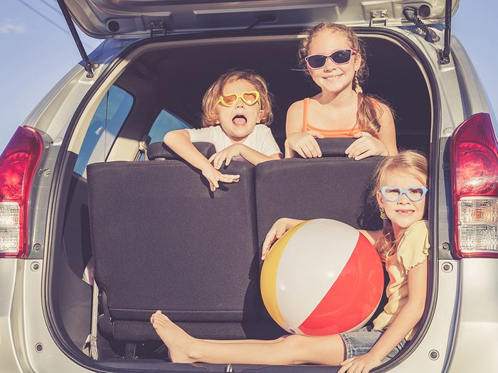Use pillowcases on family road trips