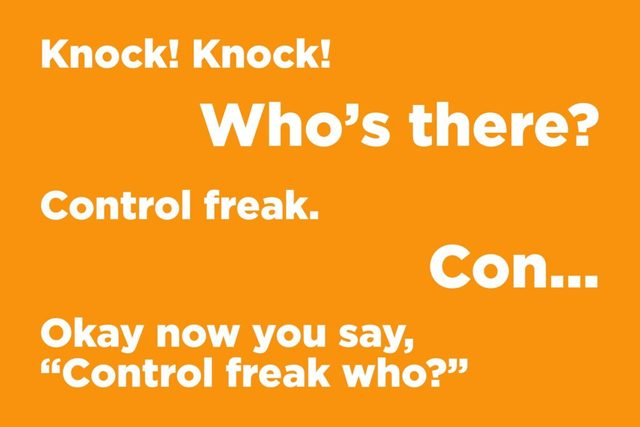 Knock! Knock! Who's there?