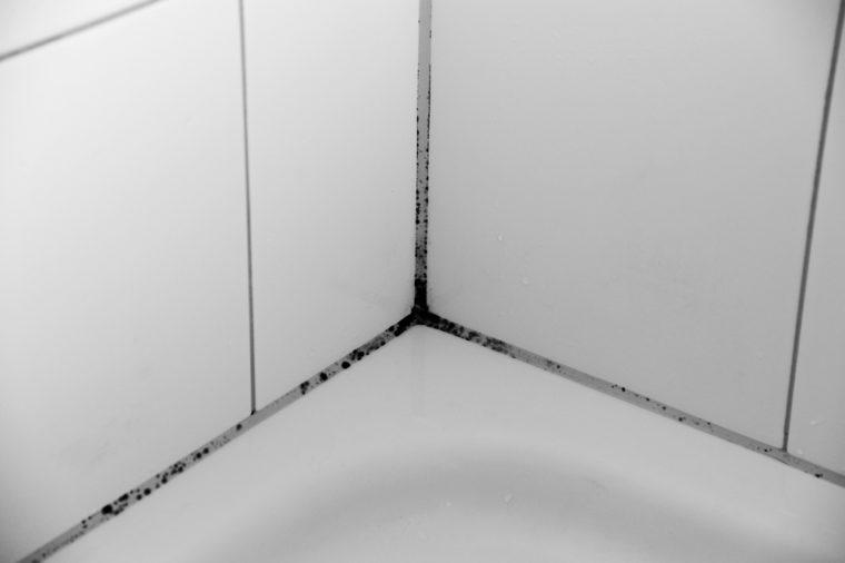 Mildew in bathroom