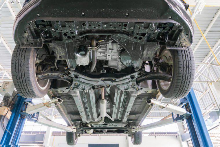 Underneath car