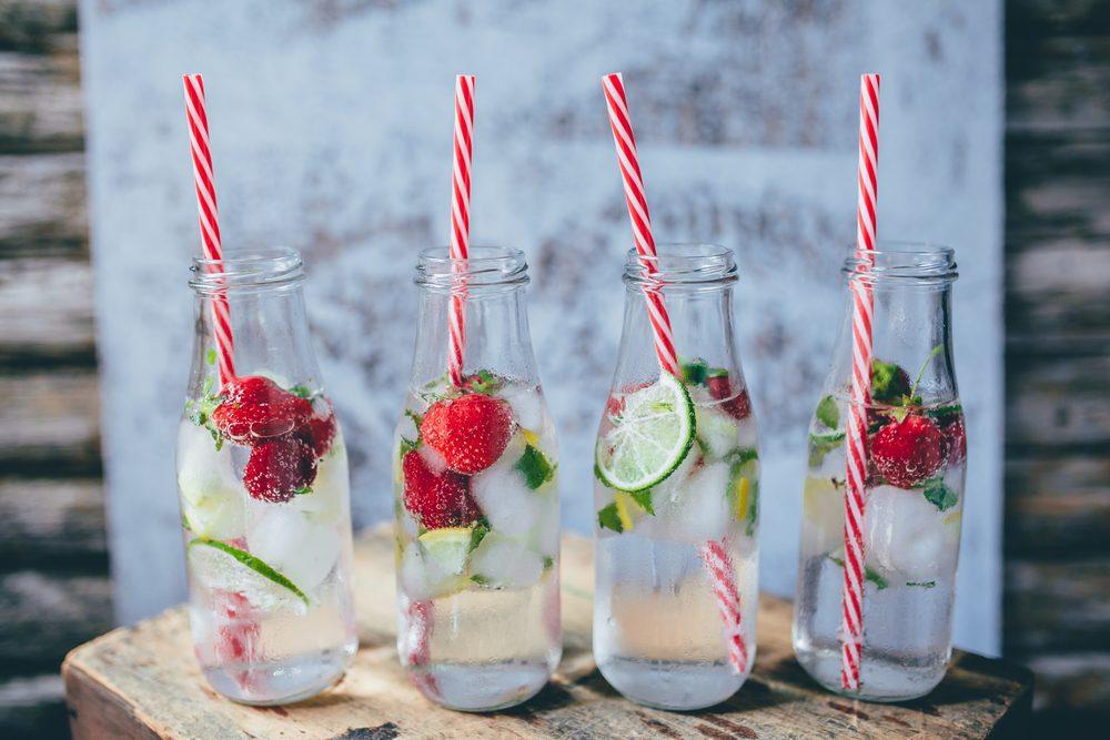 Fruit-infused water drinks