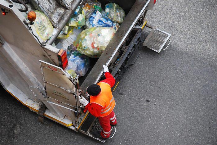Truckloads of plastic