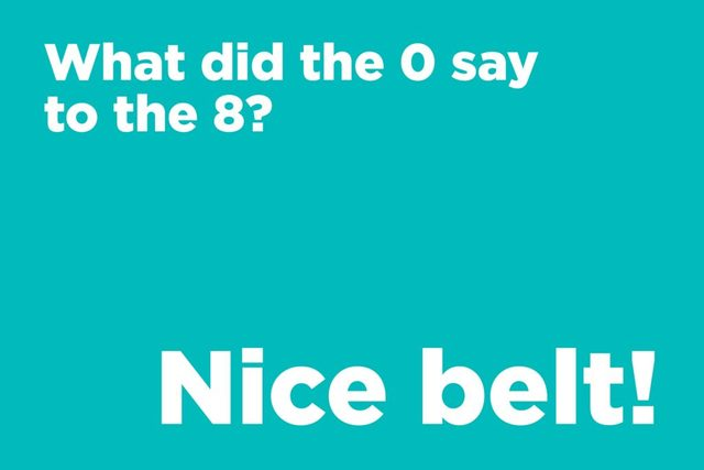 What did the 0 say to the 8?