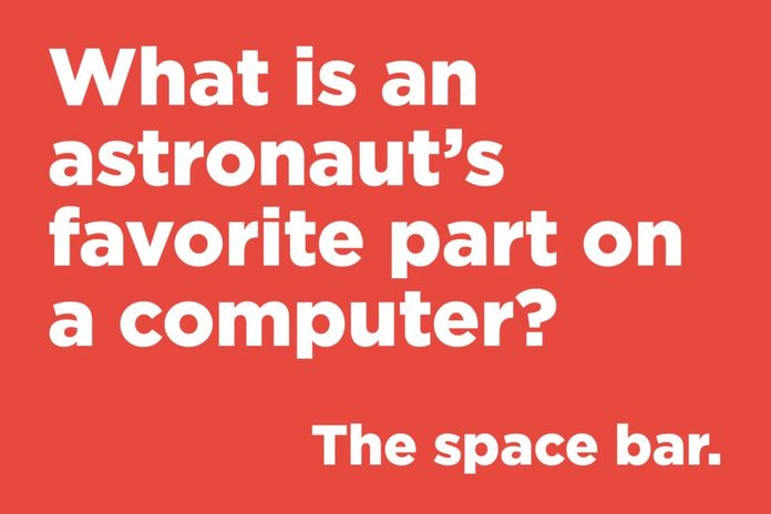 What is an astronaut's favourite part on a computer?