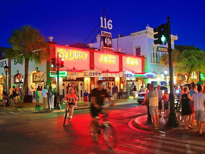 A bar where Hemingway drank.