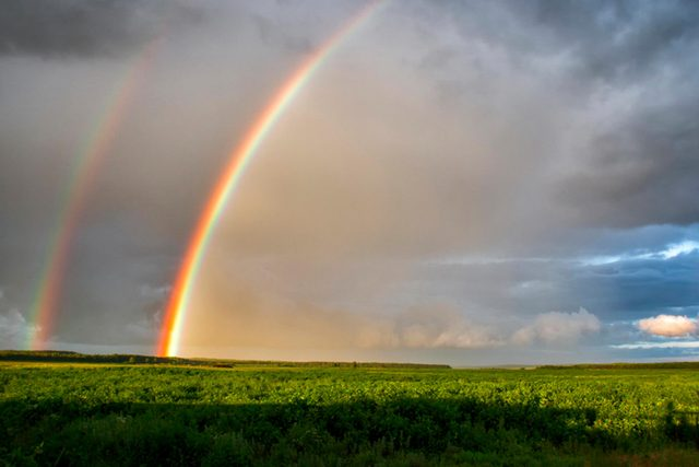 Rainbow after thunderstorm