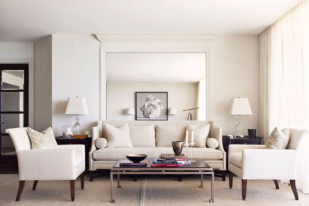 Brian Gluckstein beige living room
