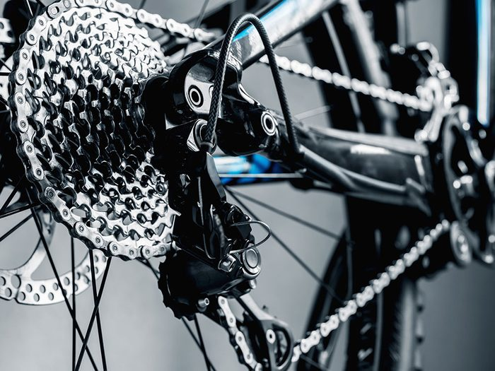 Use cooking spray on your bike chain
