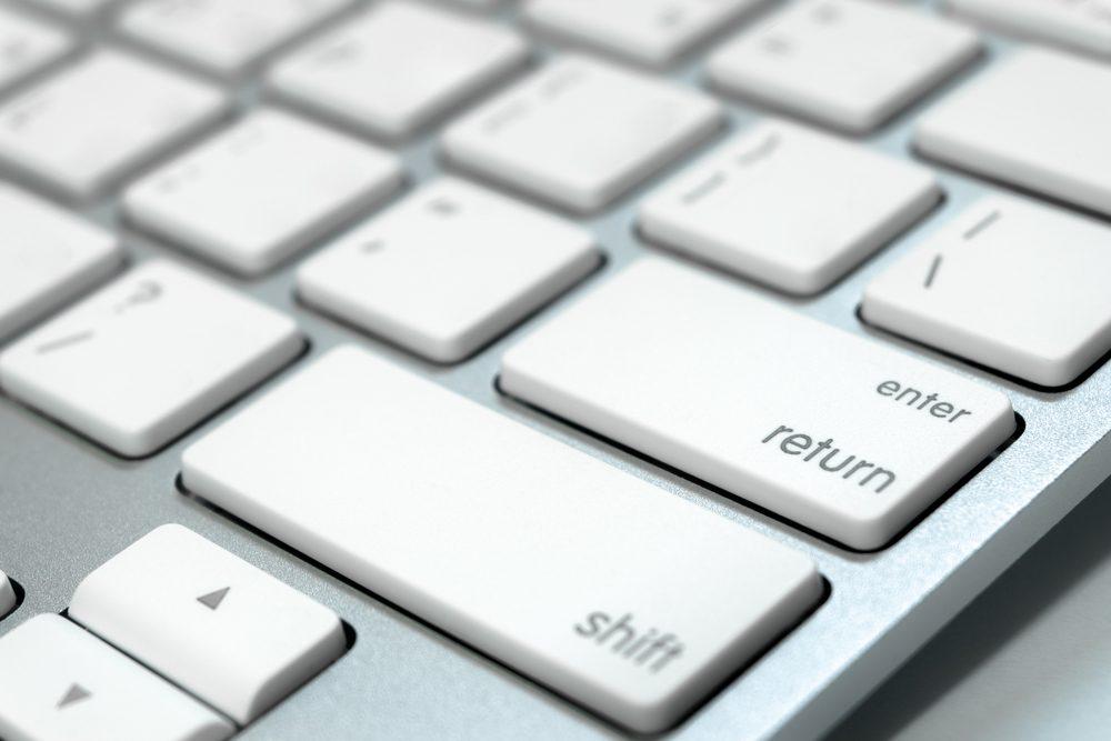 Close-up of Mac keyboard