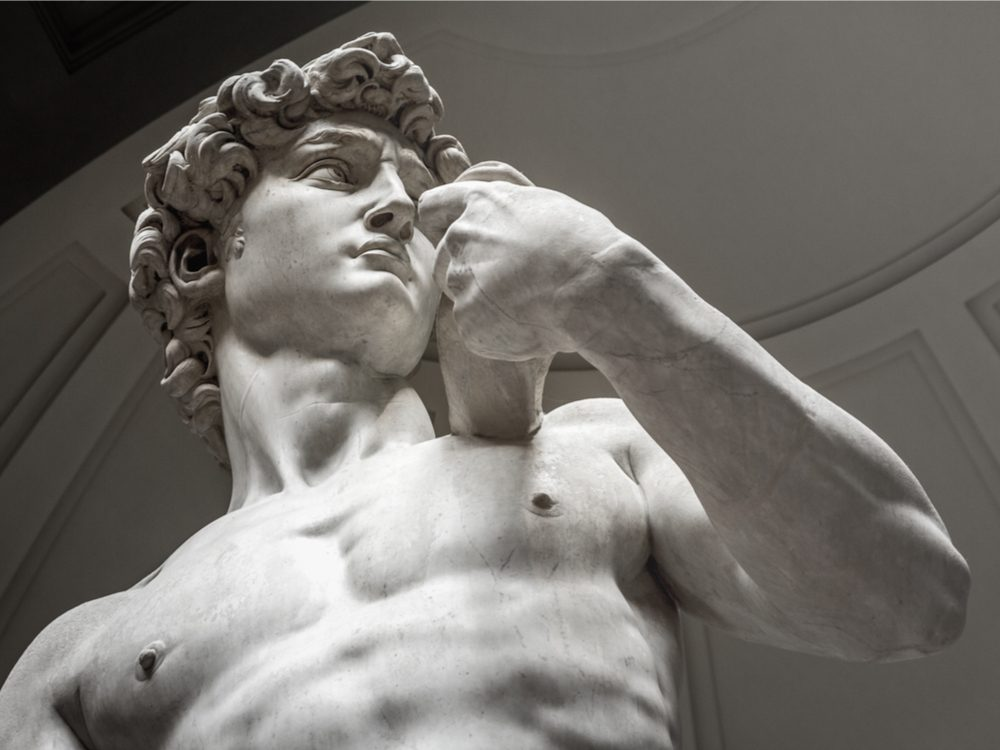 Statue of David by Michelangelo in Florence, Italy