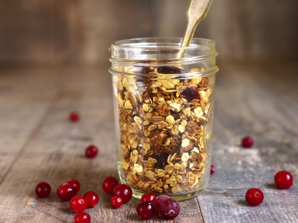 Granola in mason jar