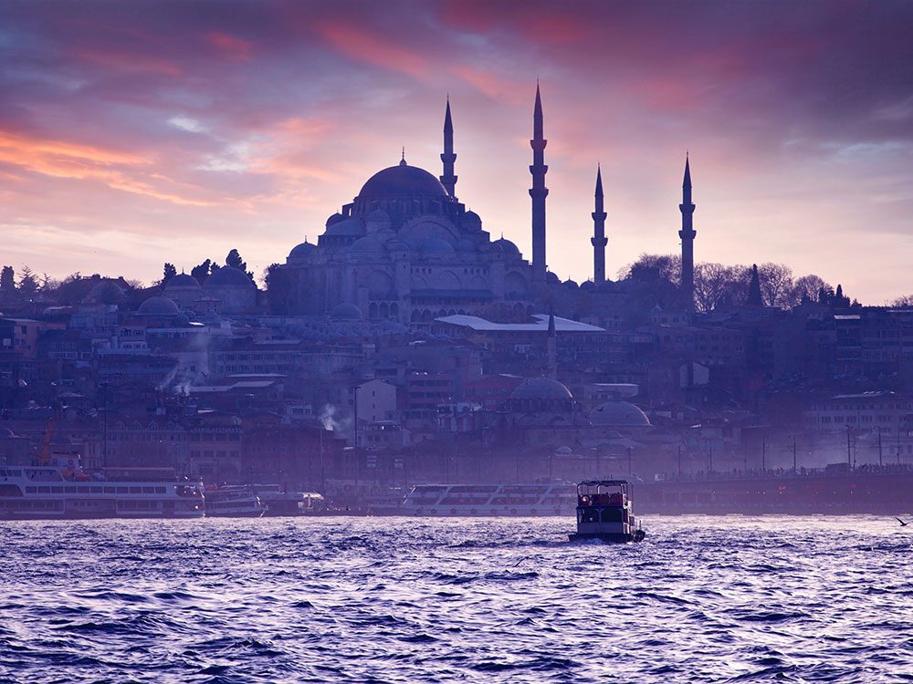 Boat cruise in Istanbul, Turkey