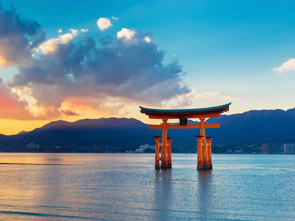 Iconic floating gate in Japan