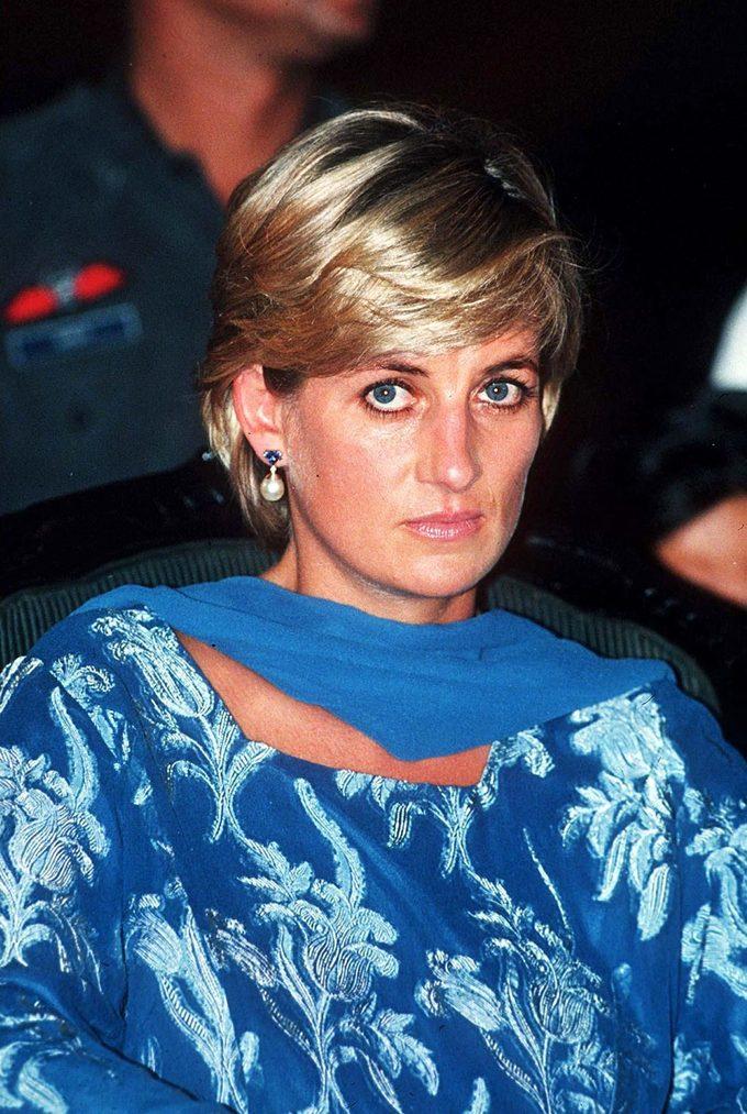 Princess Diana on a British royal tour of Pakistan in 1997