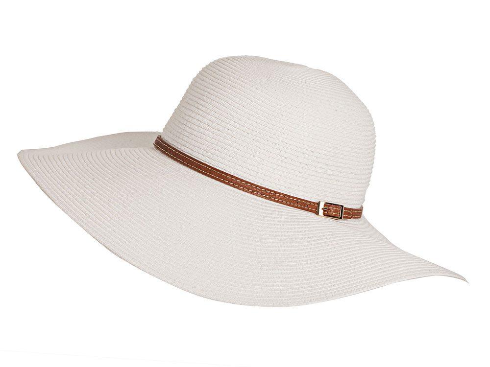 White ribbon hat