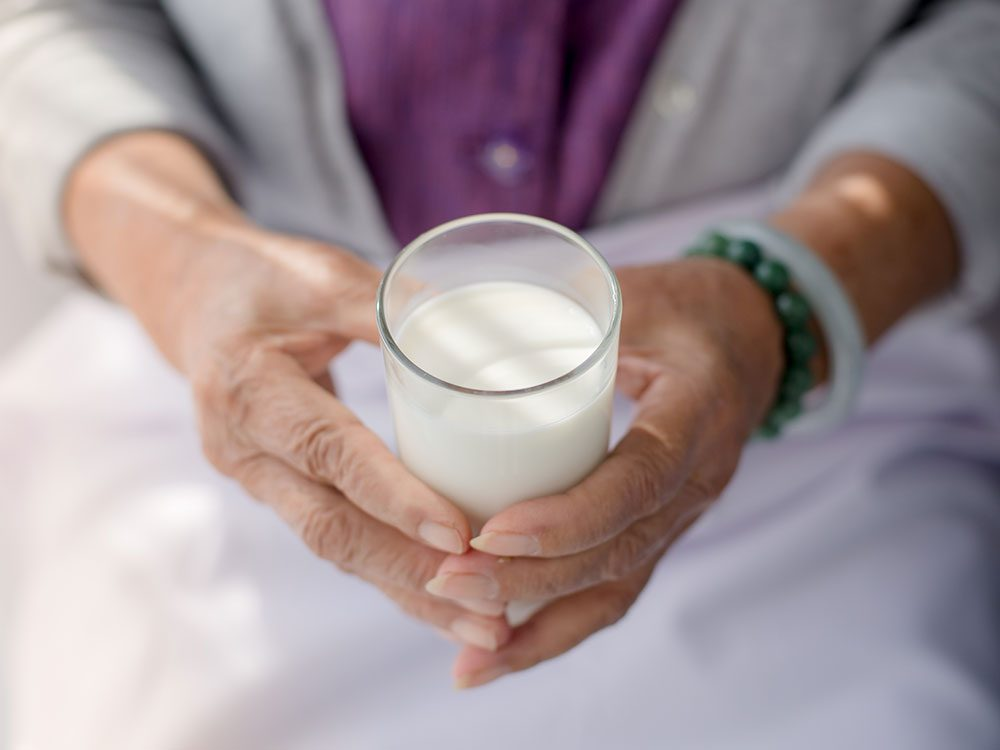 Recommended milk intake for seniors