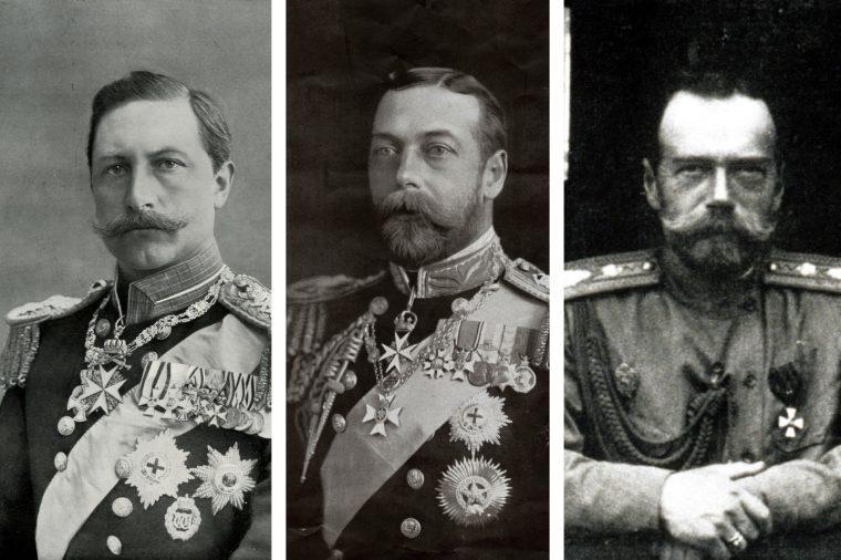 Kaiser Wilhelm, King George and Czar Nicholas