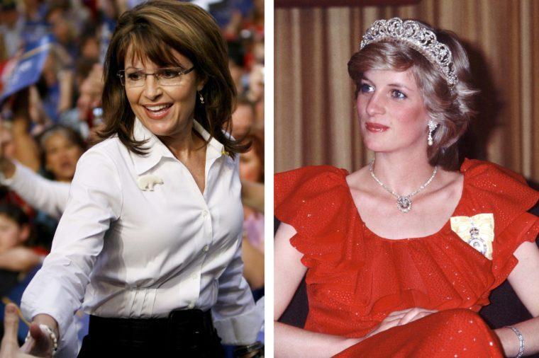 Sarah Palin and Princess Diana